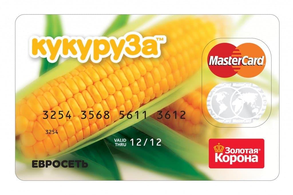 """Баннер карты """"кукуруза"""" от Евросети"""