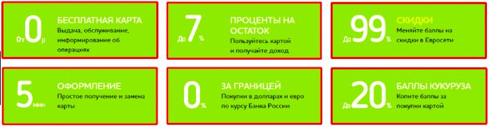 """Преимущества карты """"Кукуруза"""" от Связного"""